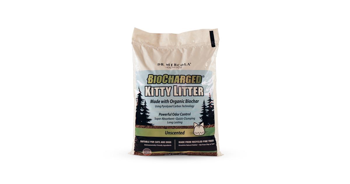 Biocharged Kitty Litter Unscented Biodegradable Cat Litter