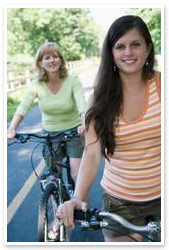 biking women