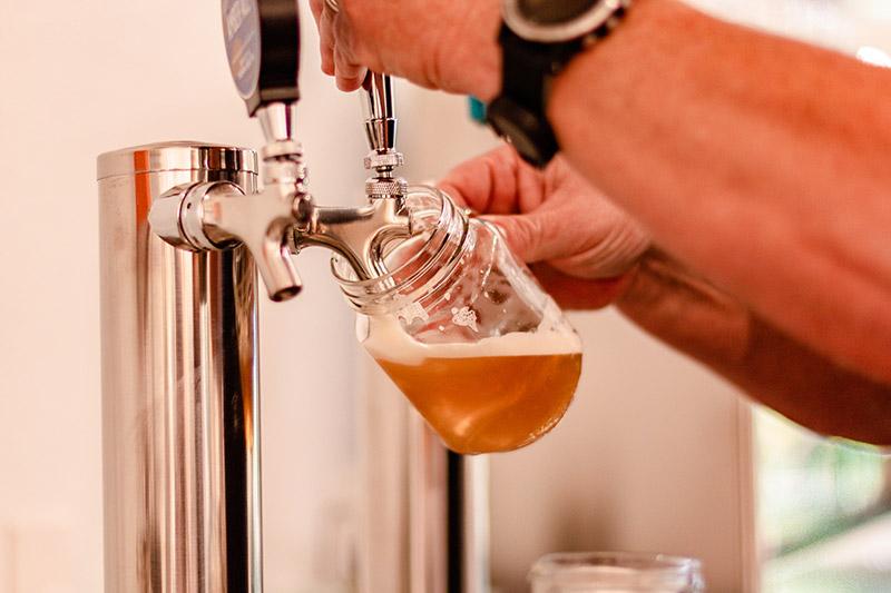 Refilling beer