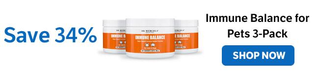 Bespaar 34% op een Immune Balance for Pets 3-Pack