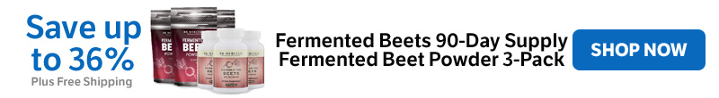 Save up to 36% on Fermented Beets 90-Day Supply Fermented Beet Powder 3-Pack