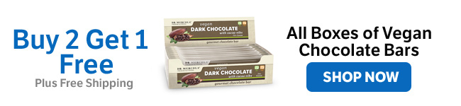Buy Two Get One Free - All Boxes of Vegan Chocolate Bars