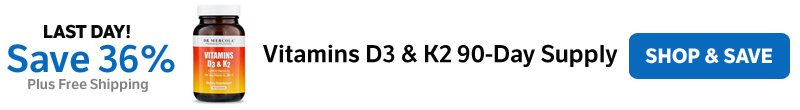 Save 36% on a Vitamins D3 & K2 90-Day Supply