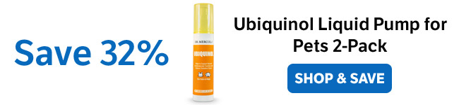 Save 32% on a Ubiquinol Liquid Pump for Pets for 2-Pack