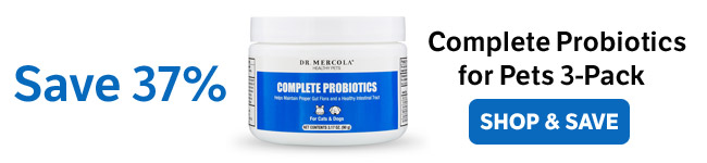 Save 37% on a Complete Probiotics for Pets 3-Pack