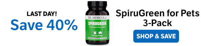 Save 40% on a SpiruGreen for Pets 3-Pack