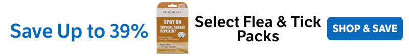 ​Save Up to 39% on Select Flea & Tick Packs