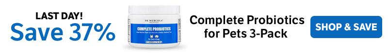 Bespaar 37% op een complete Probiotics for Pets 3-pack