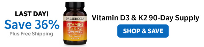 ​Save 36% on Vitamin D3 & K2 90-Day Supply
