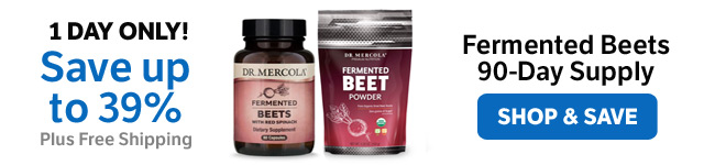 Save up to 39%  on a Fermented Beets 90-Day Supply
