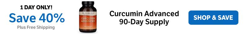 Save 40% on a Curcumin Advanced 90-Day Supply
