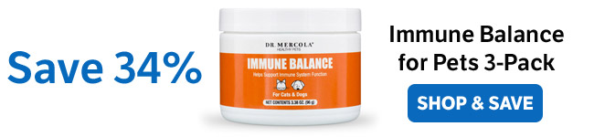 Save 34% on an Immune Balance for Pets 3-Pack