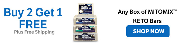 Buy 2 Get 1 on All Mitomix Keto Bars