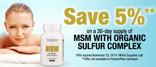 MSM with Organic Sulfur Special Offer