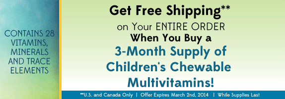 Multivitamin Children's Chewables for Kids Promo Banner