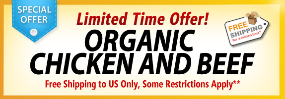 free shipping organic chicken and beef