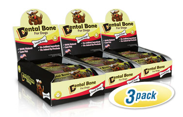 Dental Bones for Dogs 3-Pack for Small Dogs