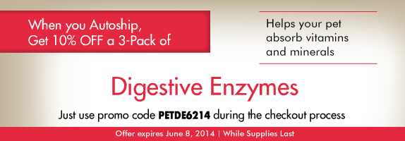 Pet Digestive Enzyme Offer