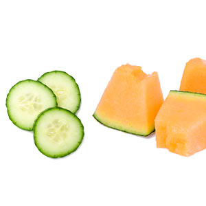 cucumber and melon