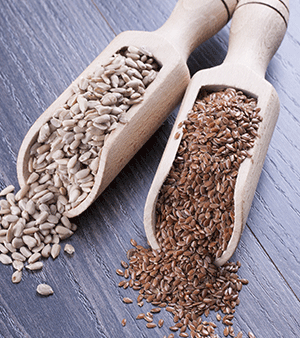 High-fiber Sunflower & Flax Seeds