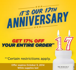 17th Year Anniversary Sale