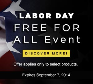 Labor Day 2014 Sale