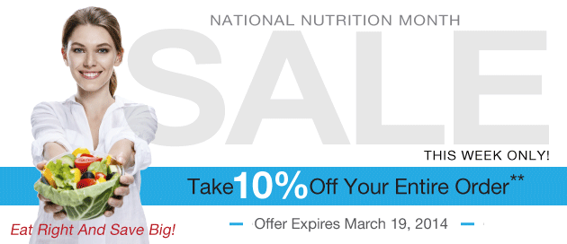Nutrition Month Sale