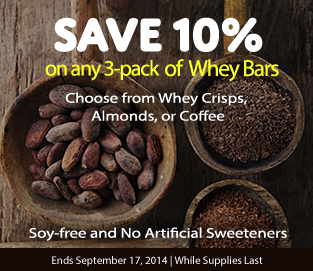 Whey Bar Banner Ad