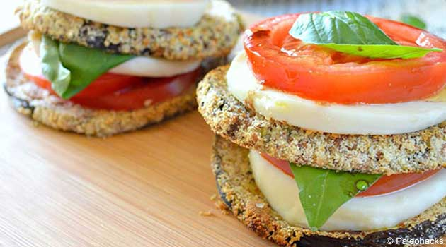 Scrumptious Baked Eggplant Caprese Stacks Recipe