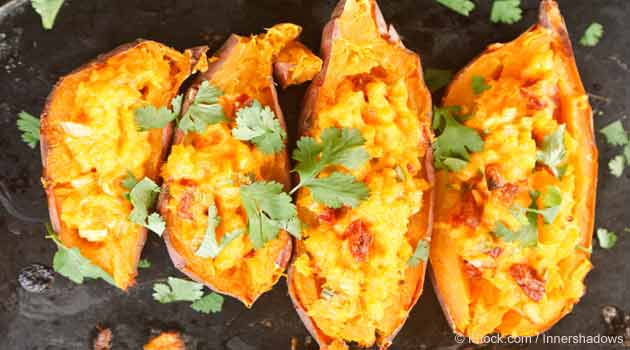 Loaded Southwestern Stuffed Sweet Potatoes Recipe