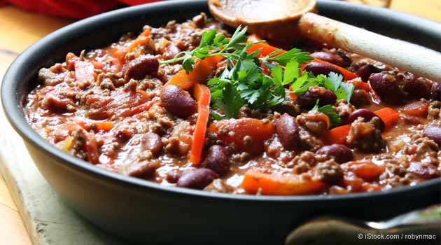 Receta de Chili con Carne de Res y Frijoles