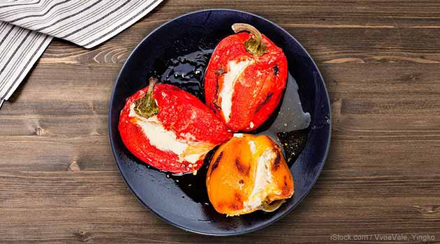 Bell Peppers Stuffed with Goat Cheese