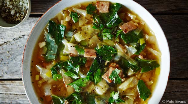 Homey Ketogenic Cabbage and Bacon Soup Recipe