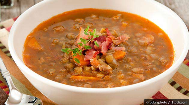 Healthy Chicken Soup with Lentils Recipe