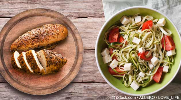 Mediterranean Chicken With Zucchini Noodles Recipe