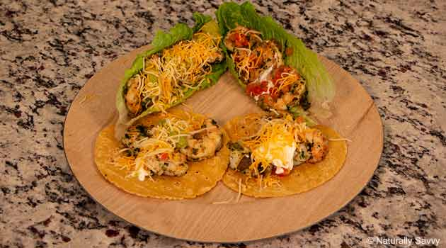 Cilantro and Garlic Infused Shrimp Tacos Recipe