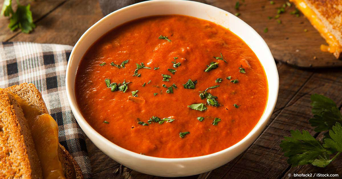 Healthy cold tomato soup recipe for Soup for a cold
