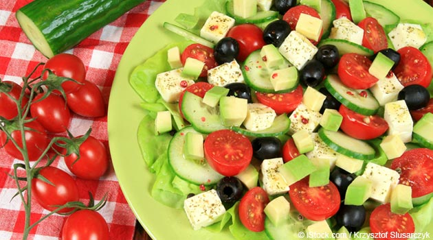 Cucumber Avocado Caprese Salad Recipe