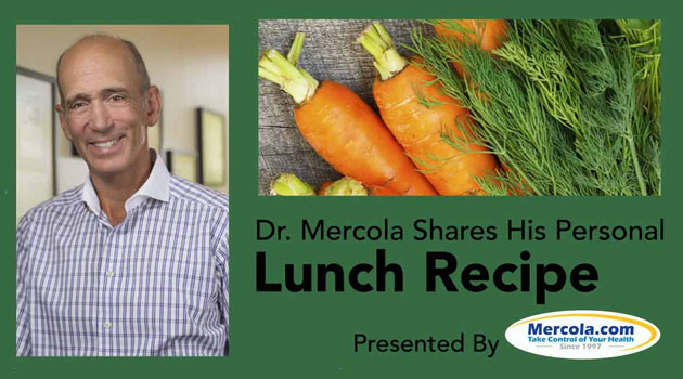 Dr. Mercola's Lunch Recipe