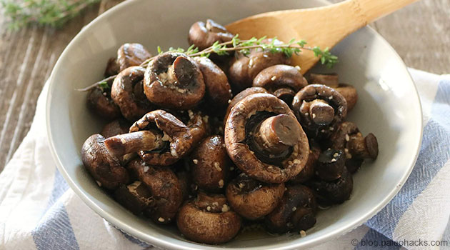 Easy Slow Cooker Garlic Mushrooms Recipe