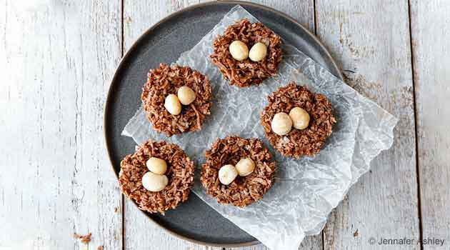Delectable Keto Coconut Cacao Nests
