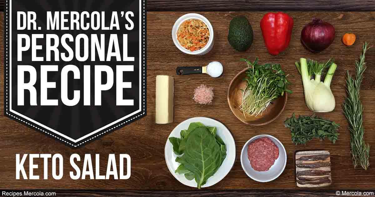 Kết quả hình ảnh cho Dr. Mercola's Keto Salad Recipe
