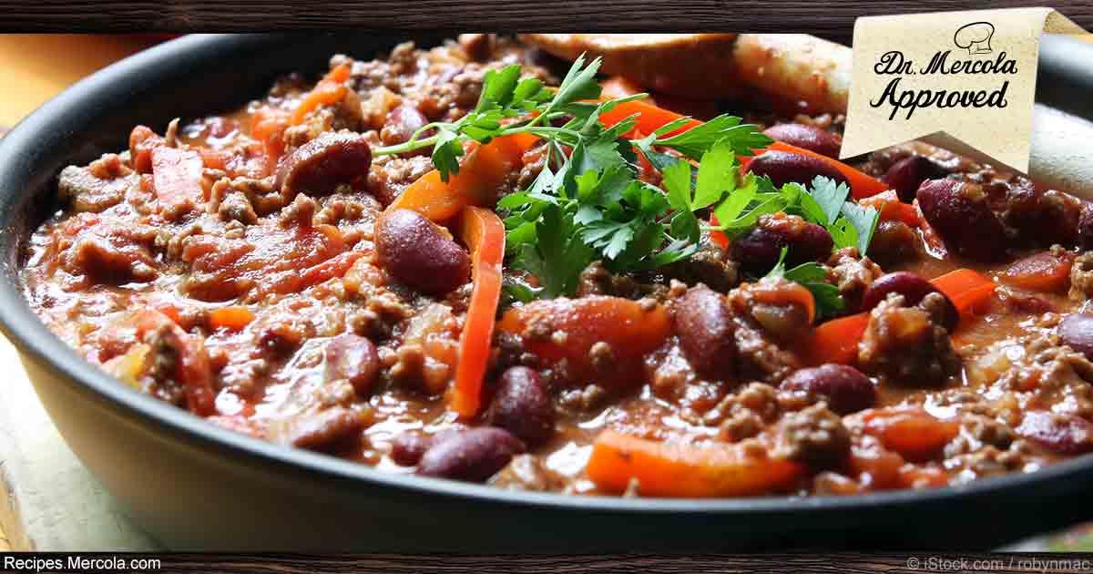 Lentil Kidney Bean Chili Recipe