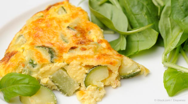 Zucchini Egg Omelet with Mushrooms Recipe