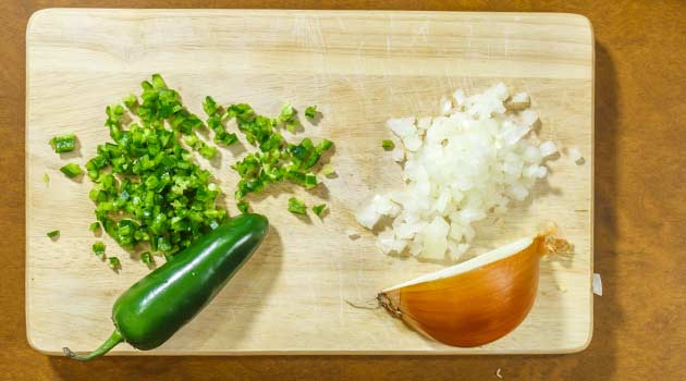 Cebollas y pimienta