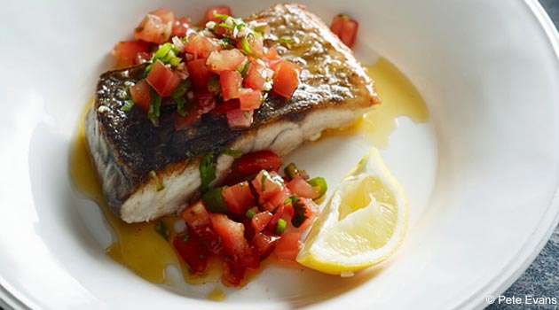 Pan Fried Fish with Pico de Gallo Salsa