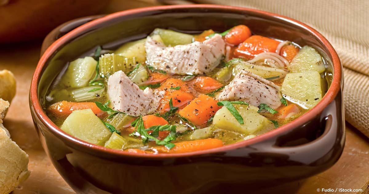 Roast Turkey Vegetable Soup Recipe