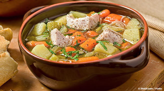 Roast Turkey Vegetable Soup Recipe