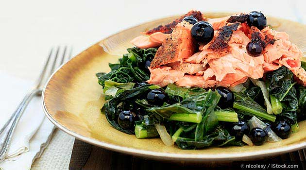 Salmon with Kale