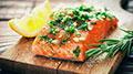 Sliced salmon